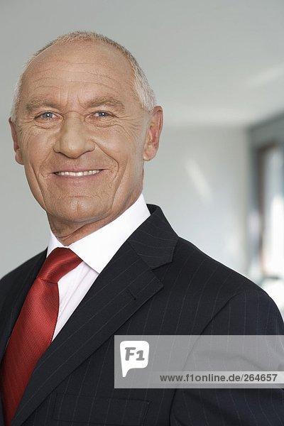 Porträt eines lächelnden älteren Managers  fully_released