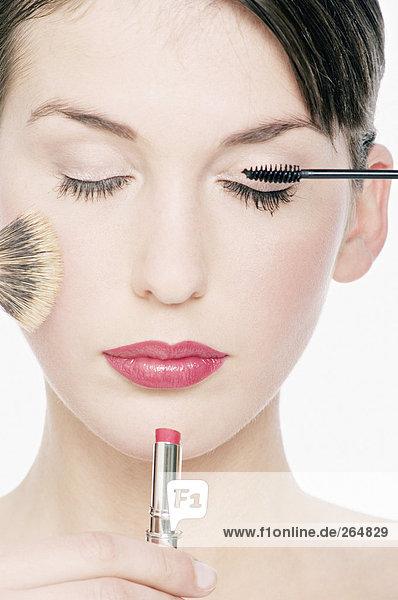 Frau : Make-up  Mund