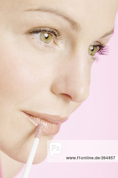 Frau: Make-up