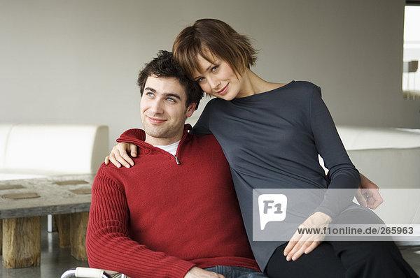 Paar zu Hause