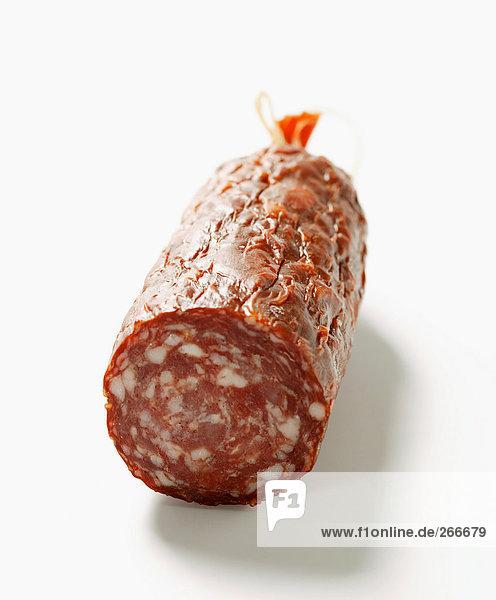 Wildwurst (Salami)  angeschnitten