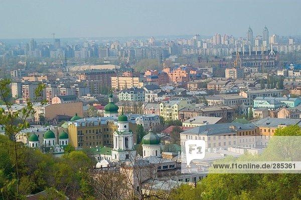 Luftbild von Stadt  Kiew  Ukraine