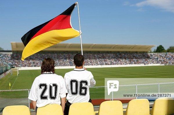Freundschaft Hemd Fahne 2 Fußball Kleidung deutsch