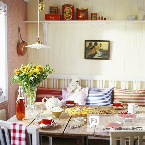 Lebensmittel Küche Tisch