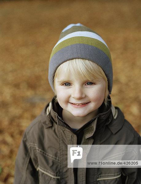 Portrait of a smiling boy.