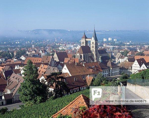 Luftbild der Stadt  Baden-Württemberg  Deutschland