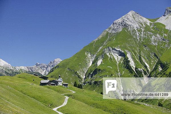 Kolonie in den österreichischen Alpen (Walsersiedlung)