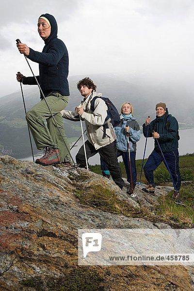 Vier Wanderer