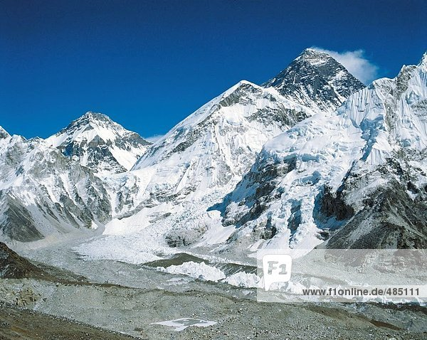 10062648  Mountain Panorama  Gletscher  Himalaya  Mount Everest  Berg  Nepal  Asien  Schnee