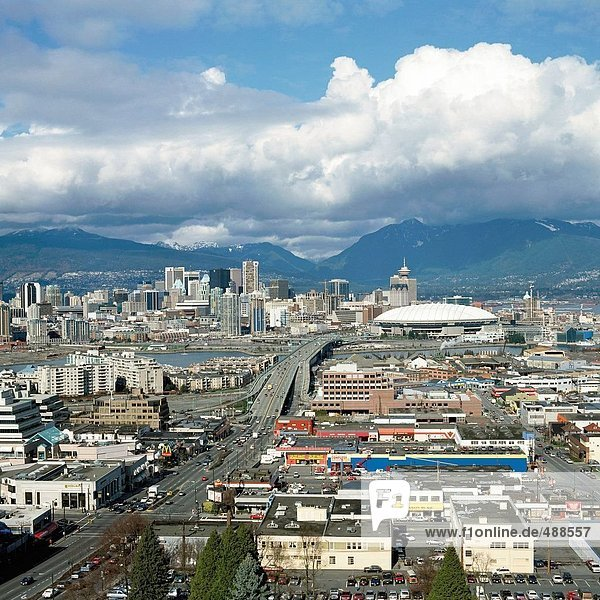 10227061  Canada  Canada  North America  Freeway  Place stage  skyline  overview  Vancouver