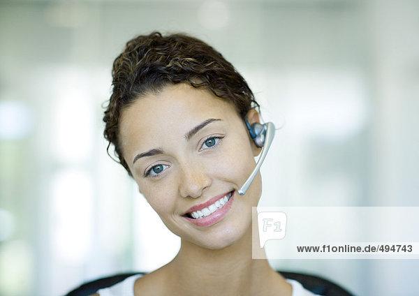 Frau mit Headset Frau mit Headset