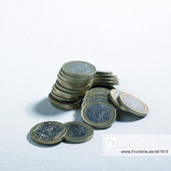 Stapel von einer Euro-Münze