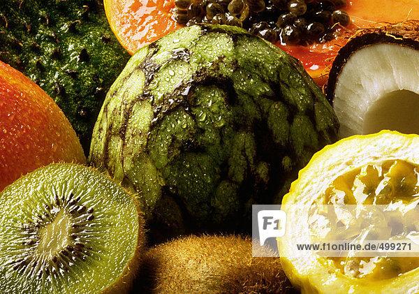 Exotic fruit  extreme close-up