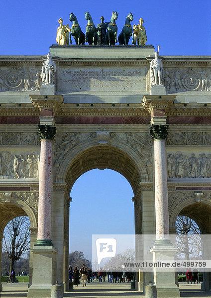 Frankreich  Paris  Arc de Carrousel