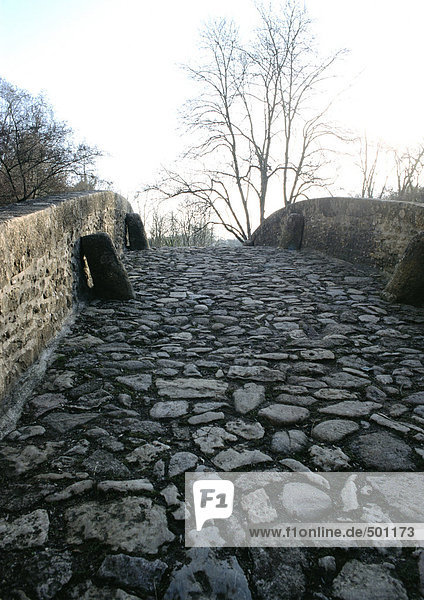 Cobblestone bridge  close-up