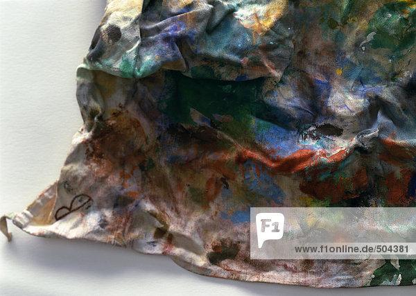 Lumpen mit Farbe überzogen  Nahaufnahme