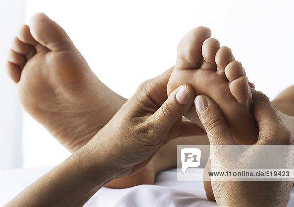 Fußmassage  Nahaufnahme