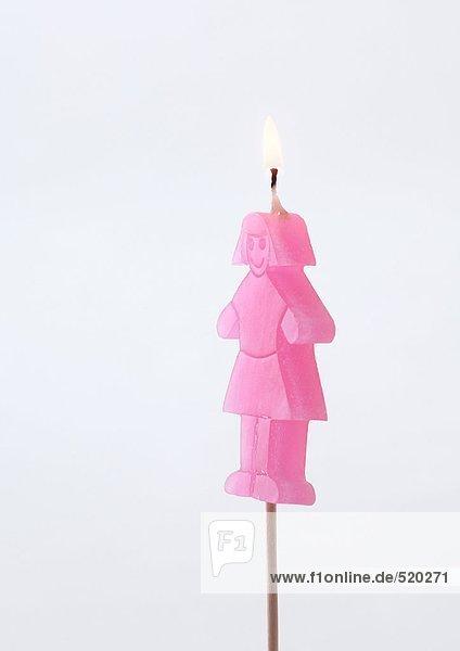 Mädchen Kerze