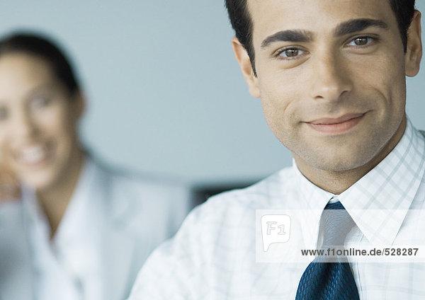 Geschäftsmann lächelnd  Portrait