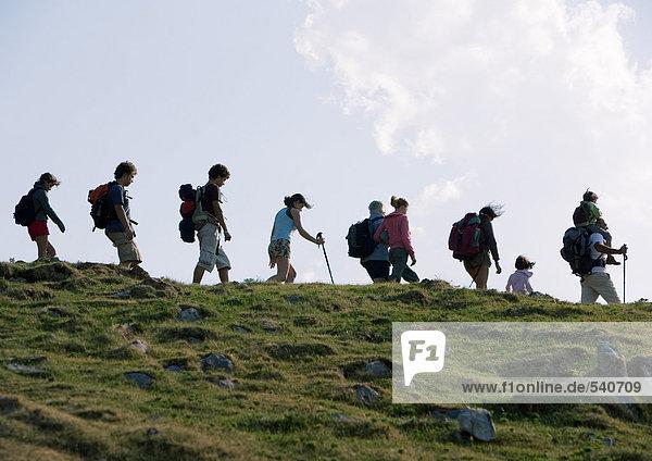 Gruppe der Wanderer
