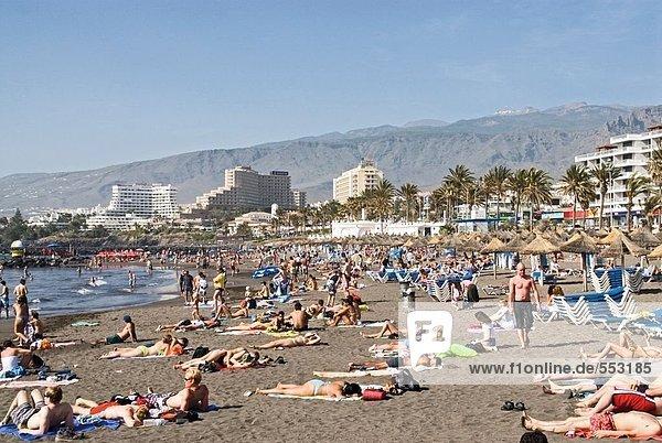 Kanaren Kanarische Inseln Spanien Teneriffa Playa de las Americas