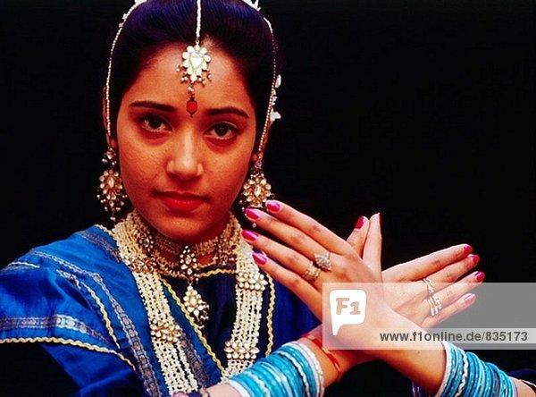 Tänzer. Jaipur. Rajasthan. Indien
