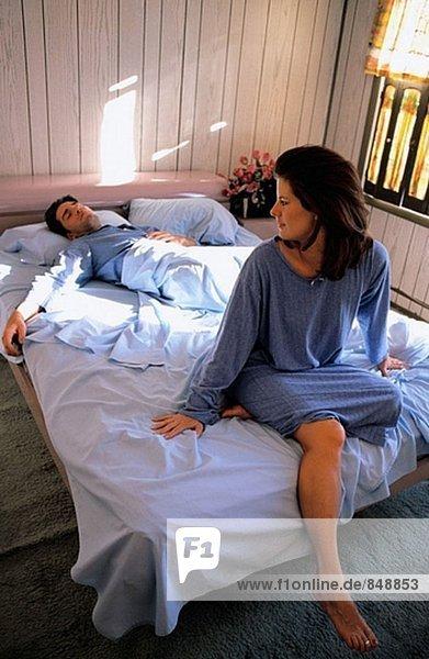 Frau glücklich  schläft man