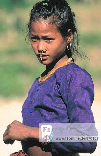 Tamang girl. Nepal