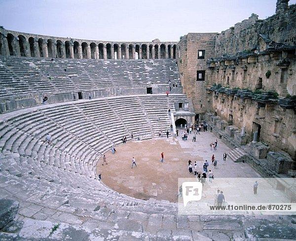 Roman theatre  ruins of Aspendos. Turkey