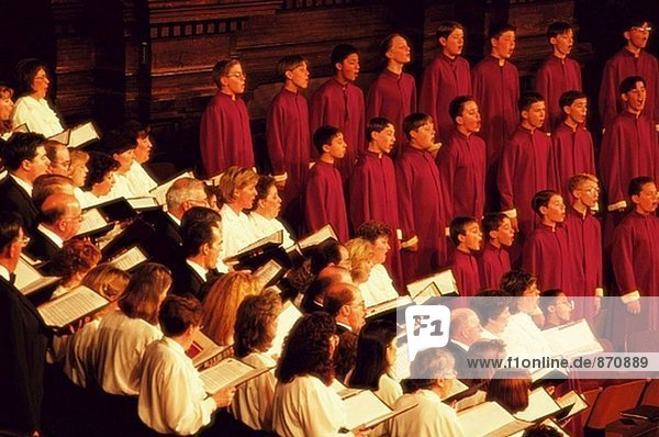 Tabernacle Choir. Von Salt Lake City. Utah. USA
