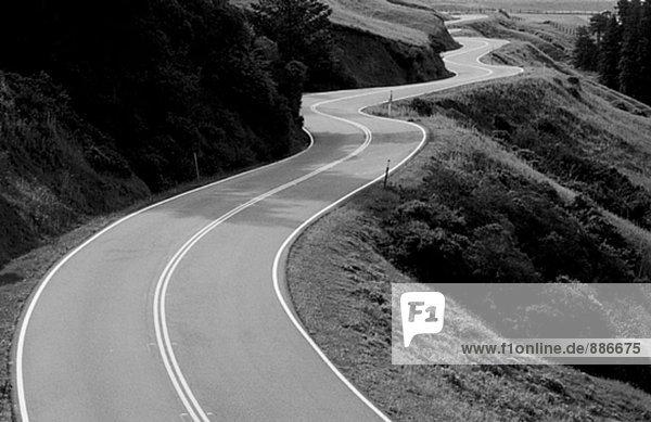 Windig California road