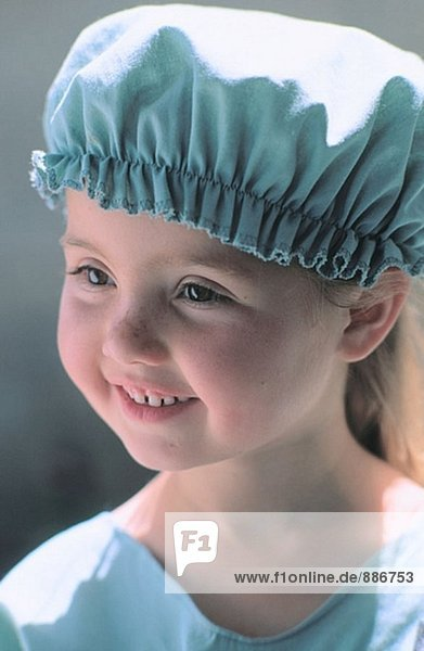 Girl dressed up in surgeon outfit