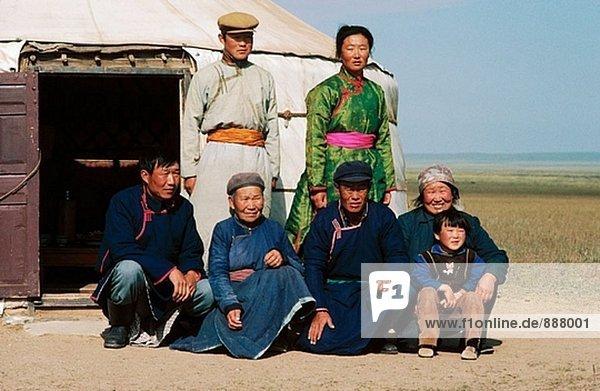 Familie. Innere Mongolei. China.