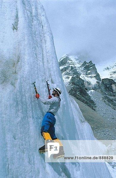 Eisklettern. Khumbu-Gletscher. Nepal