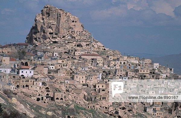 Wohnhaus Höhle Tuff Kappadokien Erdhügel Türkei