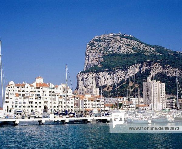 Felsen von Gibraltar. GROßBRITANNIEN