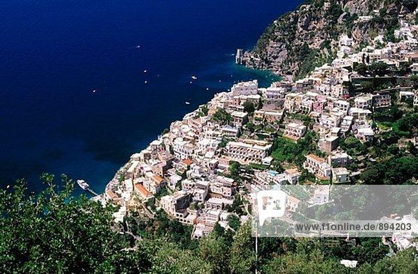 Küste Amalfi Kampanien Italien Positano