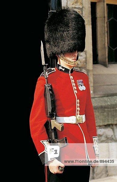 Guard. Tower von London. England