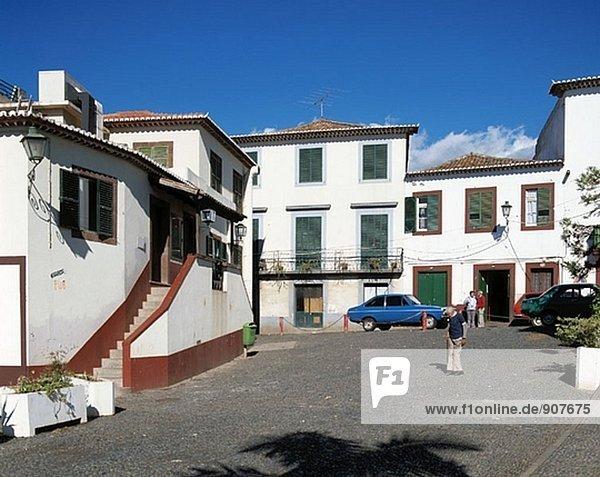 Gebäude Stadt weiß Funchal Madeira alt