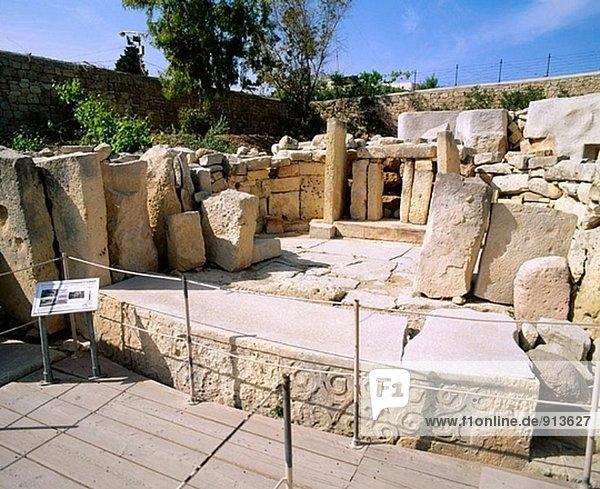 Neolithic temple ruins. Tarxien. Malta