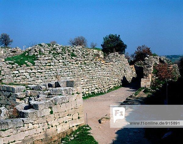 Ruinen der Stadt Troja. Turkei