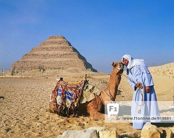 Djoser-Pyramide in Sakkara Nekropole. Ägypten