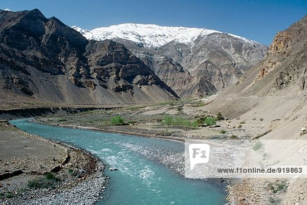 Valley and River  Lahul and Spiti valleys area. Himachal Pradesh. India