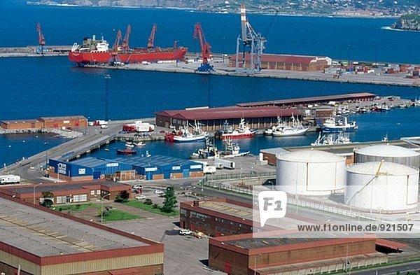 El Musel  Port von Gijón. Asturias. Spanien