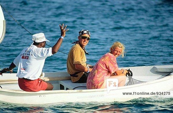 Charter Boot Matrosen in Beiboot - Britische Virgin-Islands  Karibik