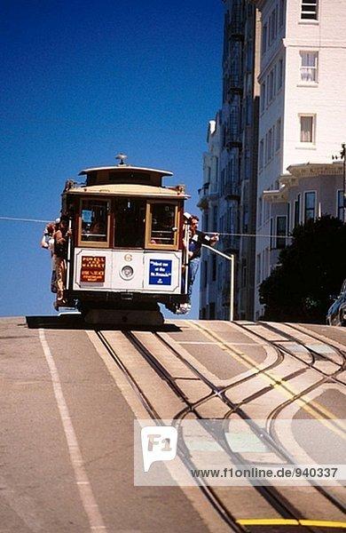Straßenbahn in San Francisco. Kalifornien. USA