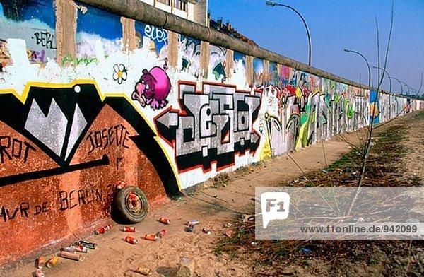 Berliner Mauer. Berlin. Westseite. Deutschland