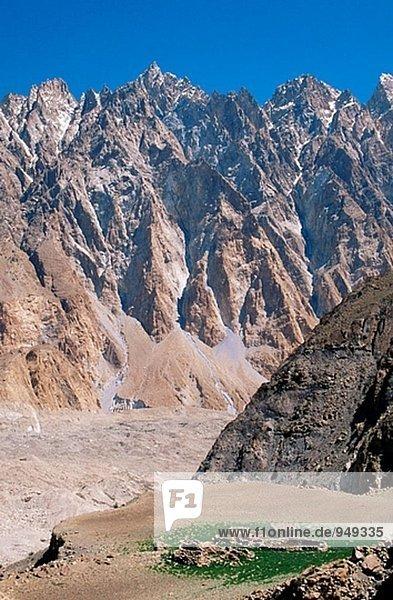 Batura Tal im Karakorum-Gebirge. Pakistan