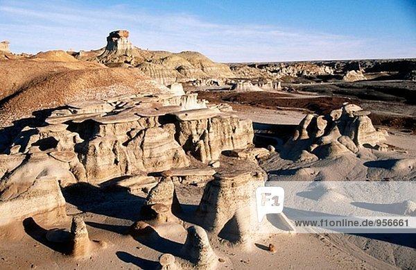 Bisti Badlands  wilderness area. New Mexico. USA