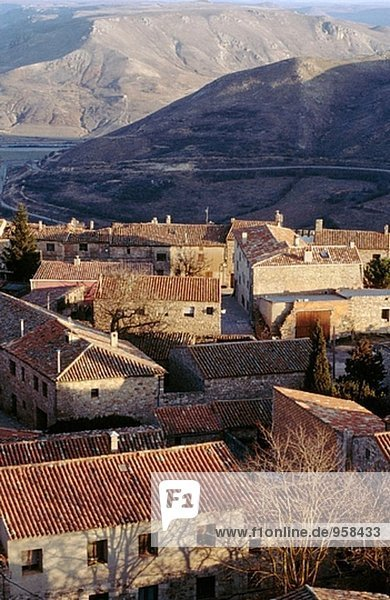 Aerial view of Medinaceli in Soria province. Castilla León  Spain